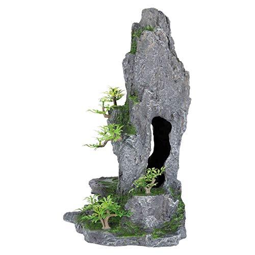 Trixie 8858 Fels mit Höhle/Pflanzen, stehend, 37 cm