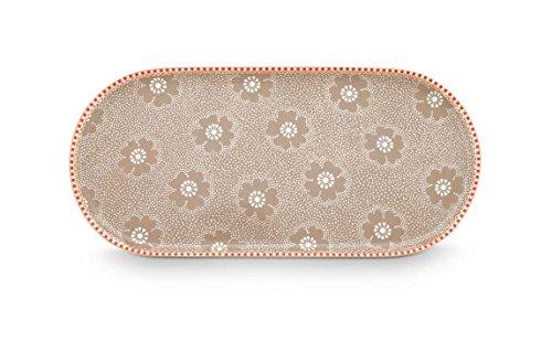 PiP Studio Plate Sugar & Creamer Dotted Flower Khaki