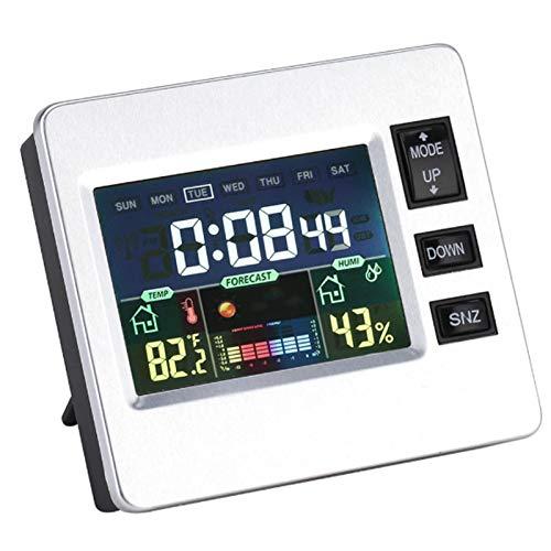 LYKH Detector de Temperatura, Dormitorio Multifuncional Reloj electrónico Muestra Digital Sensor de Temperatura y Humedad para Dormitorio/Oficina/Cocina
