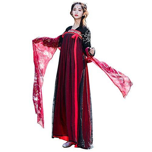 Gtagain Ropa Mujer Traje Tang - Chino Tradicional Vestidos Hada Hanfu Traje Largo Antiguo Princesa Actuación Cosplay Retro