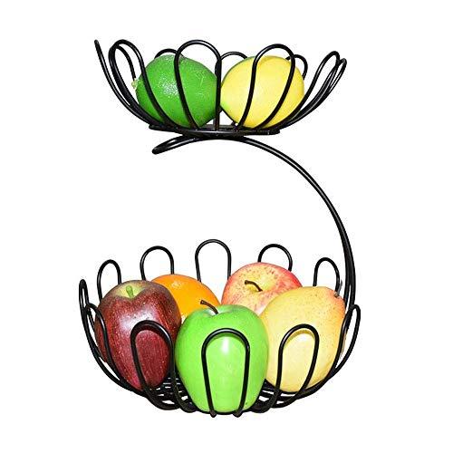 WYYAF Piatto per Frutta, Cestino per Frutta Piatto per Frutta a Doppio Strato Soggiorno Nordico Cesto per Frutta Snack Cesto per la conservazione delle Verdure Scolo per la casa Scodella per frutt