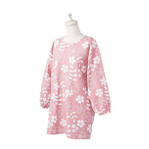 レップ 三角巾 Pink サイズ/着丈:約80cm、ヨコ:約56cm、袖丈:約25cm、裾幅:約55cm 割烹着 フィオナ レディース