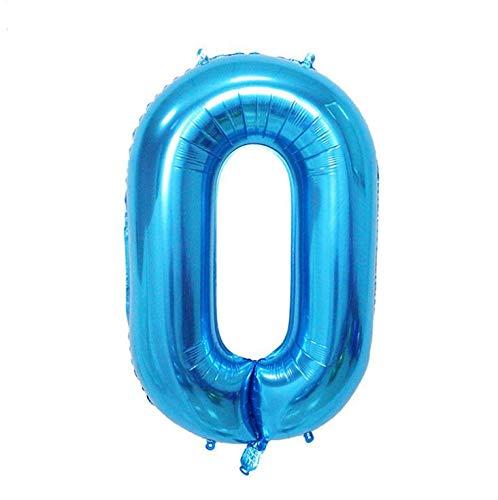 kikipa 約80cm kk-056 大型 数字バルーン ゴールド 誕生日 ウェディング 記念日 パーティーに (0, ブルー)