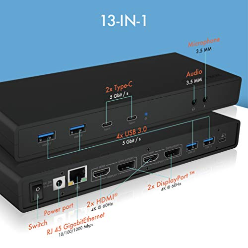 ICY BOX USB C Docking Station (für 2 Monitore) - 2