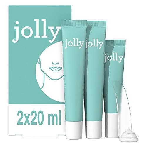 Jolly Crème Dépilatoire le Visage Femme, Résultat Rapide Kit Epilation, 2 Crèmes Dépilatoire (20ml), Crème de Finition Hydratante (15ml) et Spatule