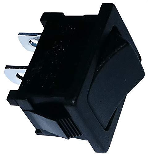 AERZETIX: Interruttore a levetta nero SPST ON-OFF 10A/250V 16A/12V pulsante a bilanciere switch 2 posizioni C10759