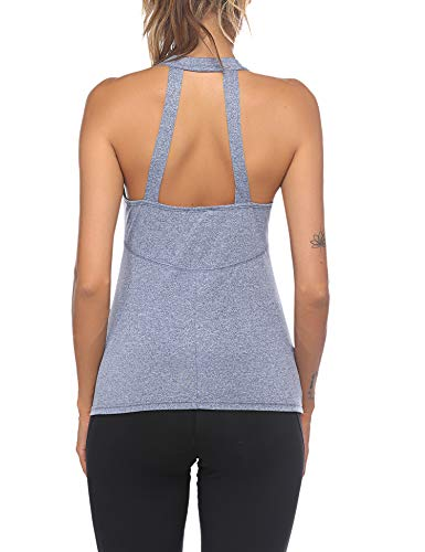 ADOME Damen Sport & Fitness Tank Top 1 Pack Yoga Laufen Fitness Training ärmellos Sporttop Oberteil