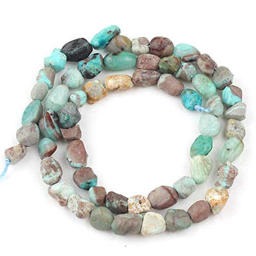 Love Beads Natural Stone Irregular Phoenix Turquoise 4-7mm Beads for Jewelry Making DIY Beads Bracelets 15inches