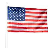 KliKil Bandera Estados Unidos Grande - 1 Bandera Americana para Balcon, Bandera USA para Exterior Jardin y Mastil, American Flag - 90x150 cm