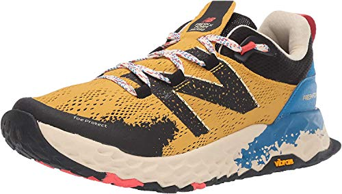 New Balance Men's Fresh Foam Hierro V5 Trail Running Shoe, Varsity Gold/NEO Classic Blue, 11.5 D US 5