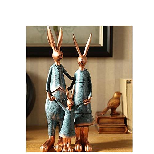 Gangkun americano creativo conejo adornos accesorios para el hogar sala de estar vino gabinete librería de TV gabinete artesanía suave decoración decoración @A1