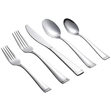 Farberware Poppy Mirror/Pebble 20-Piece Flatware Set, Service for 4