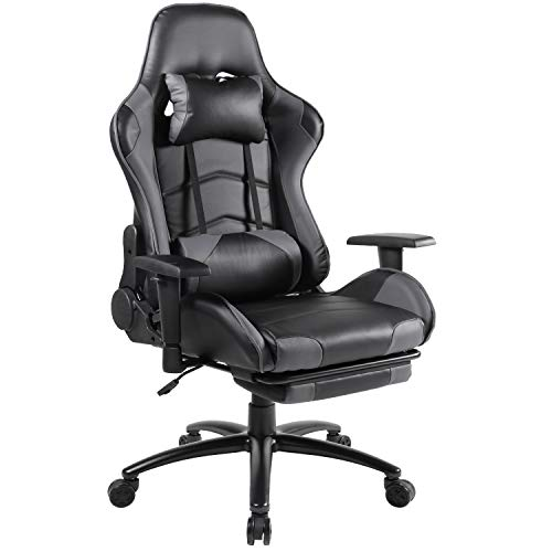 Smugdesk High Back Executive Office Chair with Thick Padding Headrest and Armrest Home Office Chair...