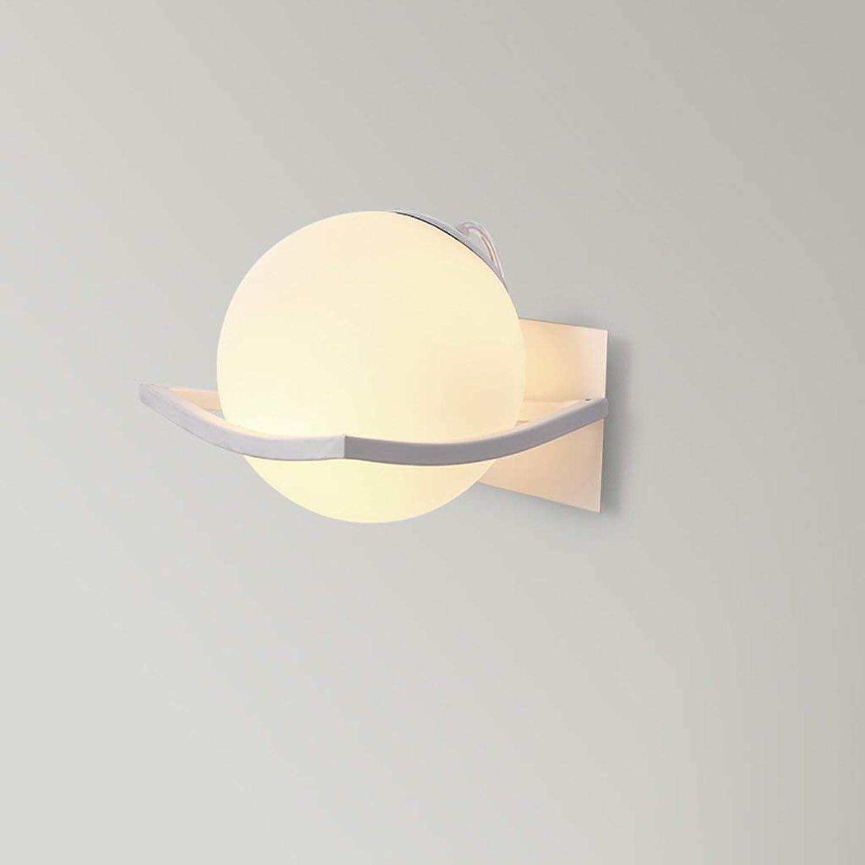 Lamps Beleuchtung, Moderne minimalistische Wandleuchte, Glaskugel Schlafzimmer Kopfteil Wohnzimmer Flur Gang Hintergrund (15 cm  15 cm), Home Wall Lighting