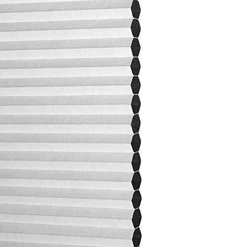 YXX-Persiana Plisada/Estor Plisado Blanco Persianas Celulares Inalámbricas para Puertas de Ventanas, 100% de apagón Persianas De Panal Arriba Abajo Abajo, Montaje Interior y Exterior Cortina Plisada