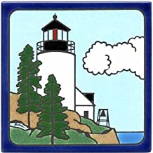 product image for BASS Harbor Light Tile, Lighthouse Wall Plaque, Lighthouse Trivet LH-4