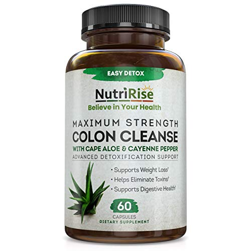 Colon Cleanse Detox Fast-Acting Weight Loss for Women & Men. Energy & Metabolism Booster, Fat Burner, Appetite Suppressant, Constipation Cleanser. Fiber Supplement + Cayenne Pepper for Immune Support…