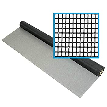 DocaScreen Fiberglass Screen Roll - 36 inch x 100 feet - for Window Door or Patio Screening and Replacement Charcoal
