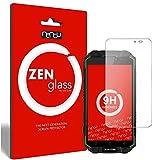 ZenGlass (2 Stück Flexible Glas-Folie kompatibel mit Oukitel K10000 Max Panzerfolie I Bildschirm-Schutzfolie 9H