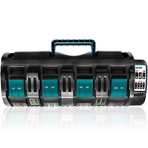 Gakkiti マキタ DC18SF 互換充電器 4口充電器 14.4V/18Vリチウムイオンバッテリ用 マキタ バッテリー BL1430 BL1440 BL1450 BL1460 BL1815 BL1830 BL1840 BL1850 BL1860 BL