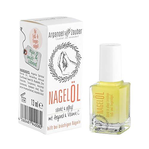Arganoel-Zauber Nagelöl, Nagelhärter inkl. Pinsel, stärkt & pflegt rissige, brüchige Fuß- und Finger-Nägel, vegan & tierversuchsfrei, mit Arganöl, Vitamin C & Bisabolol 1 x 13 ml