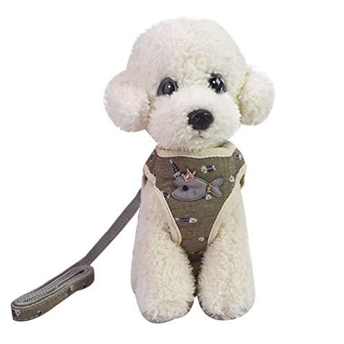 YiiJee Atmungsaktives, bissfestes Weste-Haustiergeschirr aus Mesh mit Schnalle für Hunde im Freien Als Bild2 S