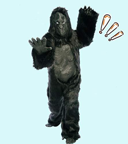 FesiAq Disfraz de chimpancé de Halloween Disfraz de Zorra Cosplay Disfraz de Gorila Adulto Ropa de Rendimiento @Have Vientre Gorila