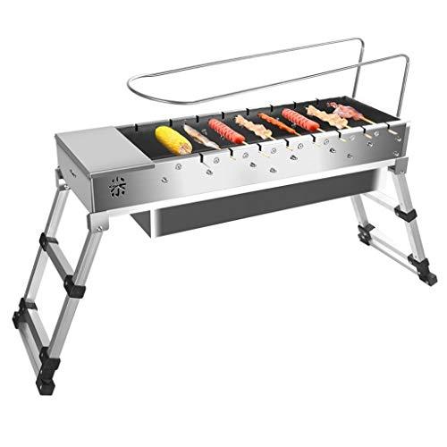 Conception portable Barbecue Accueil Cuisine pique-nique pique-nique qualité épais en acier inoxydable multi-personne avec barbecue sauvage portable pique-nique pliante étagère Stable et durable