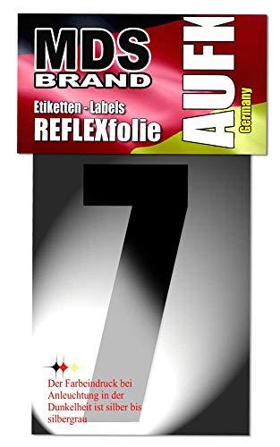 15cm Reflektierende aufkleber Ideal für Hausnummer & Briefkasten LKW (7)