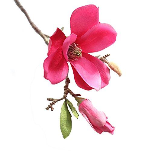 OSYARD Wohnaccessoires & Deko Kunstblumen,Unechte Blumen, Künstliche Fälschung Magnolia Seidenblume Home Gartendekor Hochzeits Blumenstrauß Haus Garten Party Blumenschmuck Gefälschte Blumen