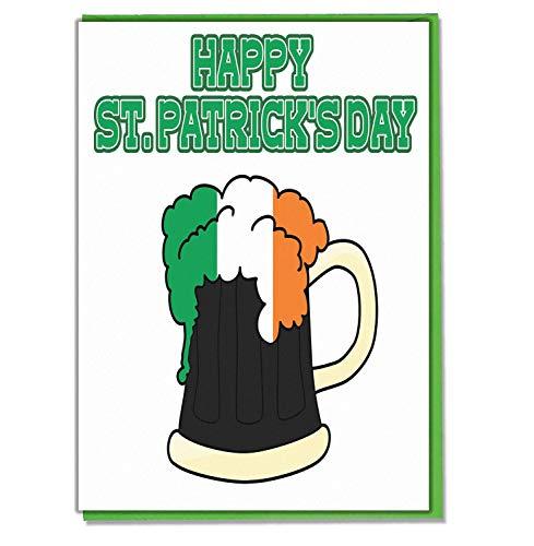 AK Giftshop St Patricks Dag Wenskaart - Iers Bier Stout Ontwerp