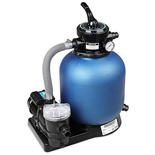 Monzana Pompe Filtre à Sable 10.200 L/h avec préfiltre Système de Filtration Eau Piscine
