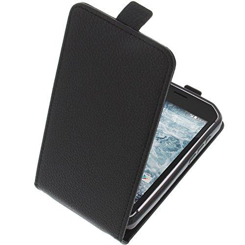 foto-kontor Tasche für CAT S40 Smartphone Flipstyle Schutz Hülle schwarz