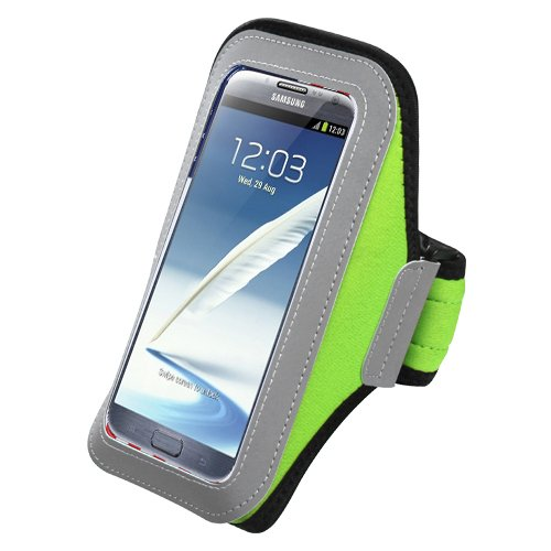Avarious Sport Workout Armband for Asus ZenFone 5 A502CG (Green)