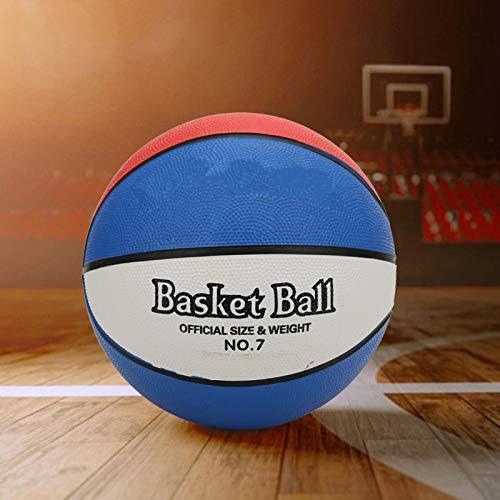 Omabeta Buena elasticidad, tamaño 7, balón de baloncesto, tres colores, para estudiantes, entrenamiento de baloncesto (no 7 baloncesto)