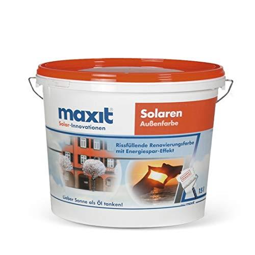 maxit Solaren A weiß Fassadenfarbe 15L Eimer Solarfarbe rissfüllende Renovierungsfarbe mit Energiespar