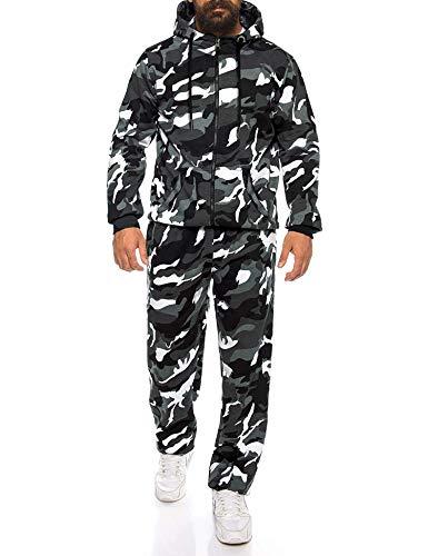 MAXMODA Herren Jogginganzug - Trainingsanzug aus Baumwolle - Camo Sportbekleidung