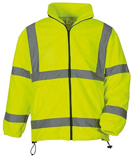 Yoko Hi Vis hvk08Heavyweight Top Cálido Workwear chaqueta de forro polar perchero de pared de seguridad Amarillo amarillo
