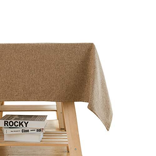 Nappe polyester Nappe rectangulaire Idéal pour table de buffet, Très jolie décoration pour, Repas de fête, Mariage & plus,Imperméable-brun 90X140cm(35x55inch)