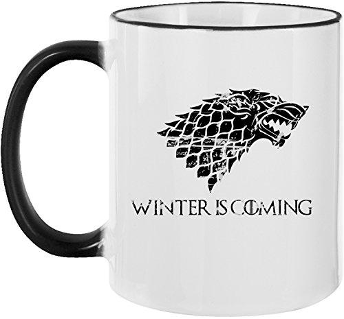 Ezyshirt® Winter is coming | GOT | Schattenwolf Kaffeetasse Kaffeebecher