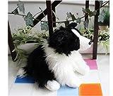 stogiit Quali Mignon Doux Animal Border Collie Peluche 30 cm Mini Pet Animal Chien Berger Chien pour Enfants Cadeau décoration Accessoires noël GIF