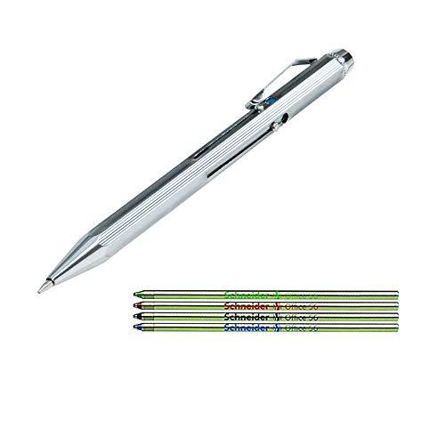 WEDO Vierfarb-Kugelschreiber mit Schiebemechanik (Stift + Ersatzminen)