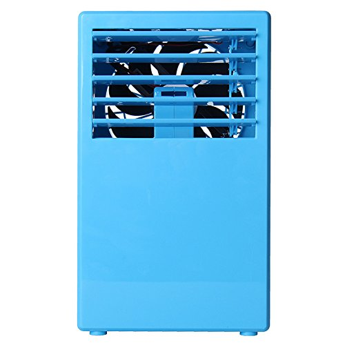 24V 24W 3 Speed Mini Spray Humidification Air Conditioning Fan 3 Colors 5 Leaf Cooling Fan (blue)