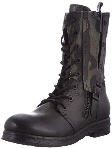 REPLAY Damen Darling Mode-Stiefel, 2303 Black Camo, 38 EU