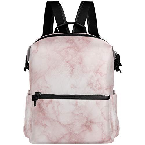 Oarencol mochila de mármol rojo y blanco con impresión de arte rosa, bolsa de viaje, senderismo, camping, portátil