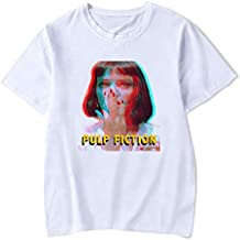 Quentin Tarantino White T Shirt Cotton MIA Pulp Fiction Design Short Sleeve Casual Fashion Shirts
