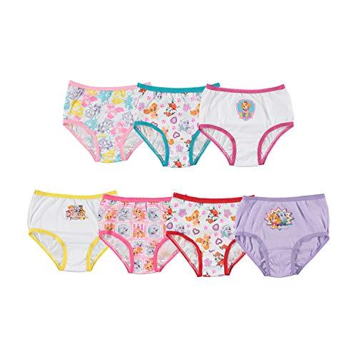 Nickelodeon Girls' Paw Patrol Underwear Briefs - 4T - Assorted (Pack of 7)