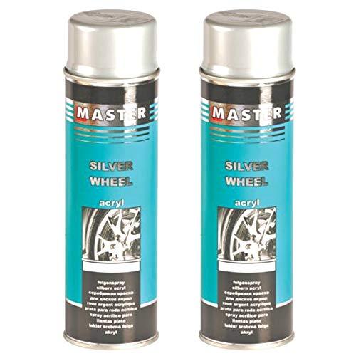 Troton Lot de 2 flacons de Spray pour Jantes Argenté 500 ML