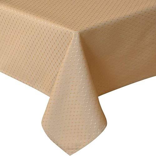 ZZHU geel Jacquard Tafelkleed Tafelkleed Eettafel Waterdicht Verdikte Tafelhoes Voor Woonkeuken Decoratie
