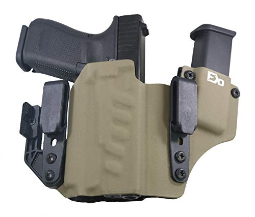 FDO Industries -Formerly Fierce Defender- IWB Kydex Holster Compatible with Glock 19 23 32 w/PL Mini 2 - +1 Series w/Claw -Made in USA- (Flat Dark Earth)